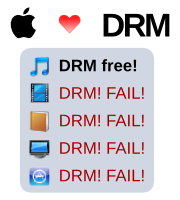 Apple's uses of DRM