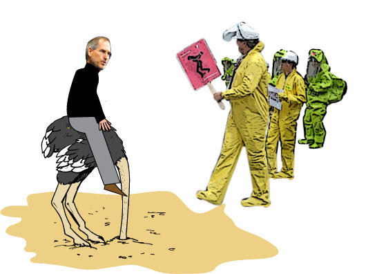 Steve Jobs: Head in the sand