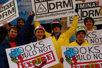 Closeup image of DRM Elimination Crew in front of BPL